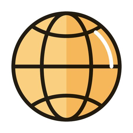world connection internet web technology interface vector illustration line and fill style icon Ilustração
