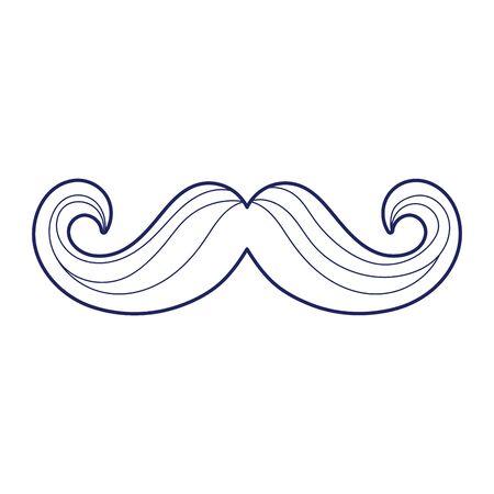 Mustache icon design, Gentleman man style face retro facial and fashion theme Vector illustration Ilustração