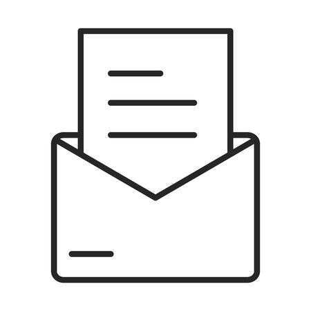 email message letter envelope courier line style icon vector illustration