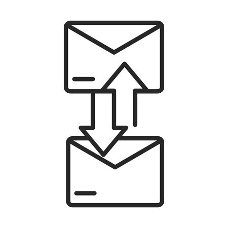 email envelope communication courier line style icon vector illustration
