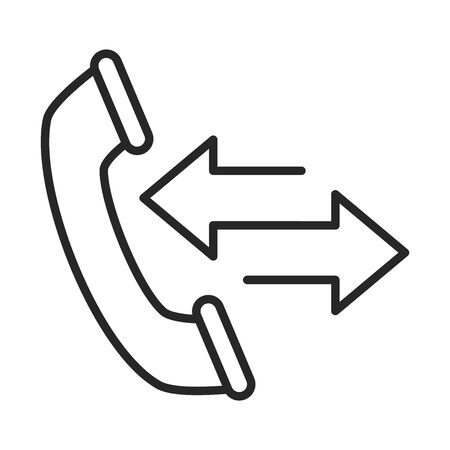phone call service electronic device line style icon vector illustration
