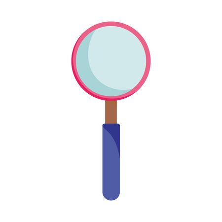 magnifying glass search isolated icon design white background vector illustration vector illustration