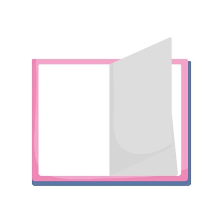 open book literature school isolated icon design white background vector illustration