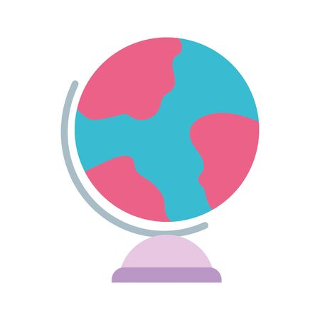 school globe map geography isolated icon design white background vector illustration