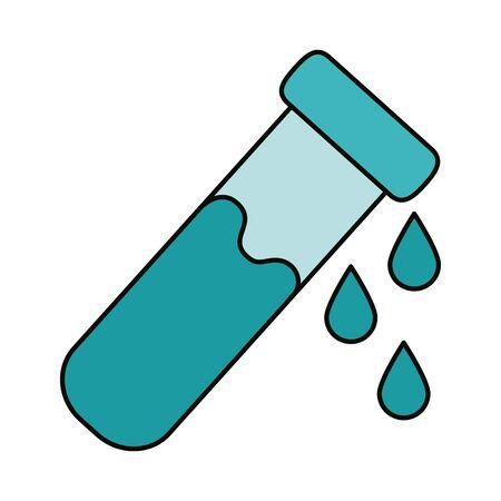 covid 19 coronavirus, chemistry laboratory test tube, prevention spread outbreak disease pandemic flat style icon vector illustration Banco de Imagens - 150194809