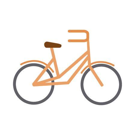 bike transport recreational sport in flat style isolated icon vector illustration Stock Illustratie
