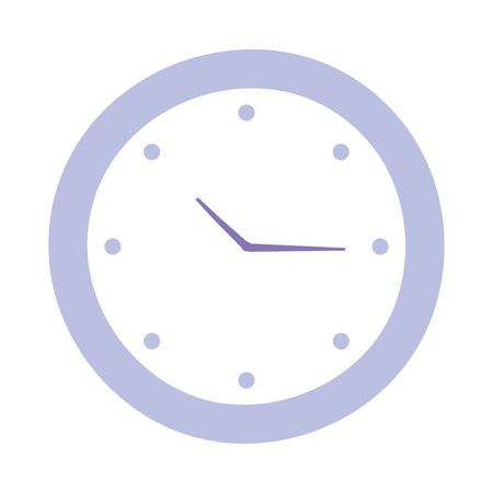round clock time isolated design icon white background vector illustration Illustration