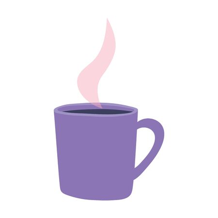 coffee cup hot aroma beverage isolated design icon vector illustration Illustration