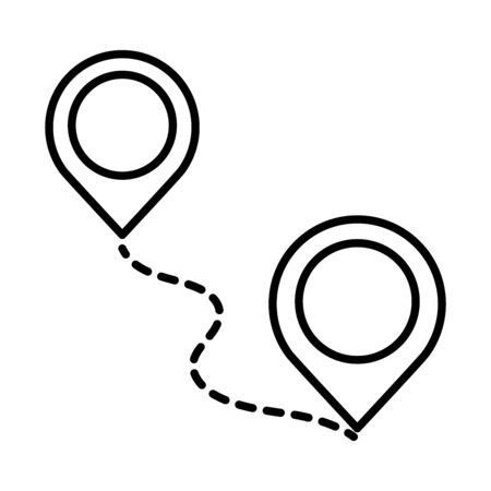 gps navigation location pointer tracking vector illustration line style icon
