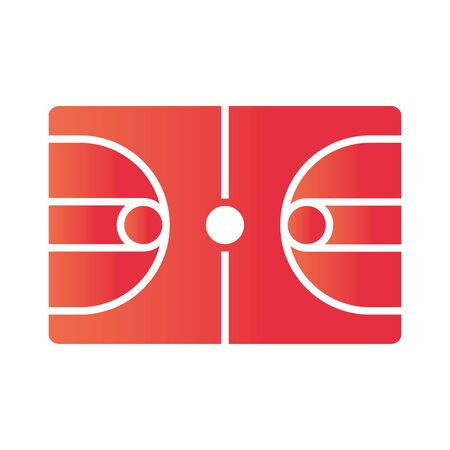 basketball game, court floor recreation sport gradient style icon vector illustration Stock fotó - 150291731