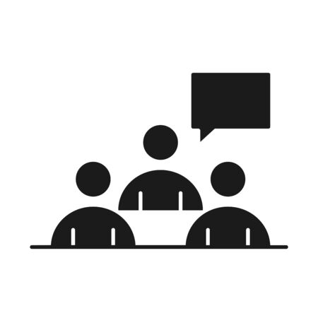 businesspeople team meeting business management developing successful silhouette style icon vector illustration