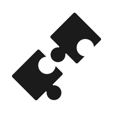 puzzles piece teamwork idea silhouette style icon vector illustration