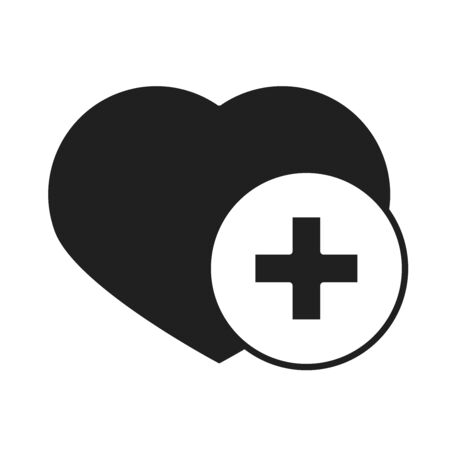 heart love healthcare medical and hospital pictogram silhouette style icon vector illustration