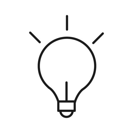 light bulb creativity idea solution line style icon vector illustration
