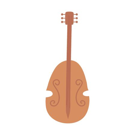 violin musical instrument string isolated icon white background vector illustration Stock fotó - 150485440