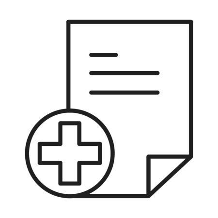 report document healthcare medical and hospital pictogram line style icon vector illustration