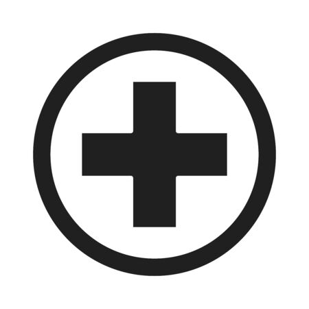 cross symbol healthcare medical and hospital pictogram silhouette style icon vector illustration