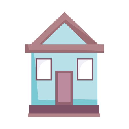 house home architecture residential isolated icon design white background vector illustration Illustration