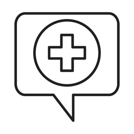 medical assistance healthcare hospital pictogram line style icon vector illustration