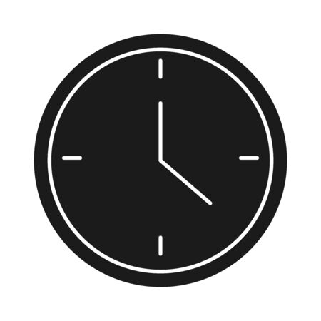 clock time business success silhouette style icon vector illustration