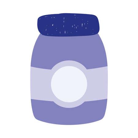 jam jar food isolated icon design white background vector illustration Çizim