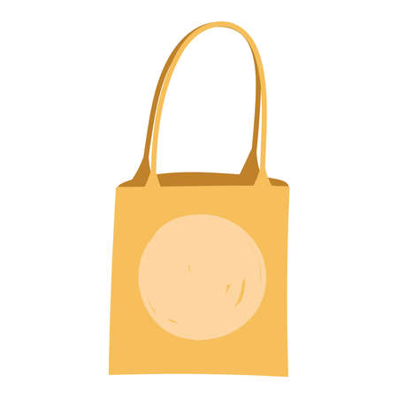 paper bag market with handles isolated icon design white background vector illustration Vettoriali