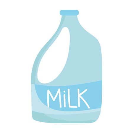 milk bottle isolated icon design white background vector illustration