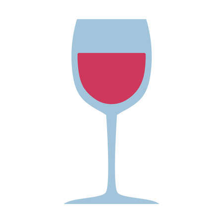 glass wine drink liquor isolated design icon white background vector illustration
