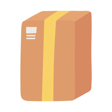 delivery cardboard box carton container isolated design icon vector illustration