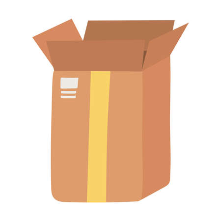 open delivery cardboard box fragile isolated design icon vector illustration