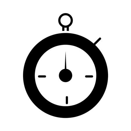 american football chronometer time game sport professional and recreational silhouette design icon vector illustration