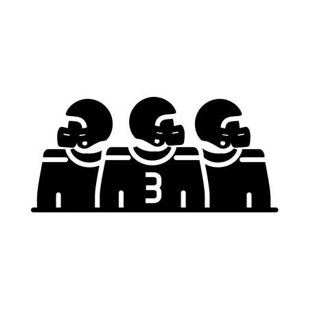 american football team players game sport professional and recreational silhouette design icon vector illustration