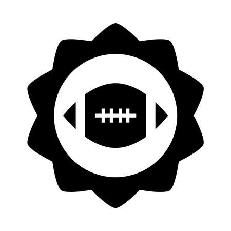 american football ball game sport professional and recreational nadge silhouette design icon vector illustration Иллюстрация