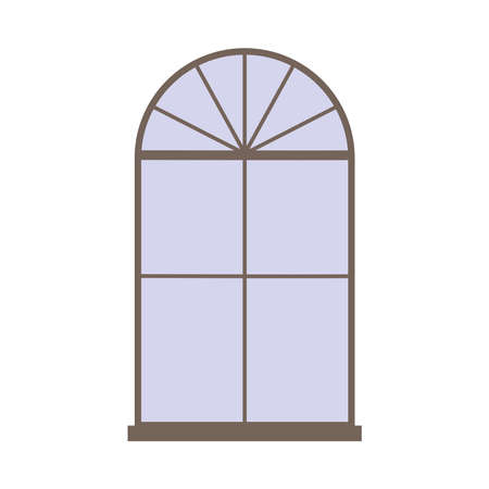 window frame decoration isolated design icon white background vector illustration