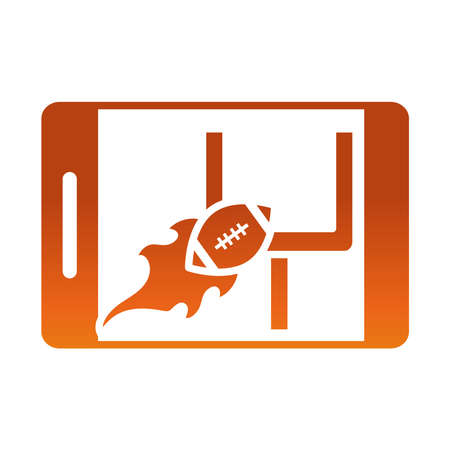 american football online smartphone game sport professional and recreational gradient design icon vector illustration