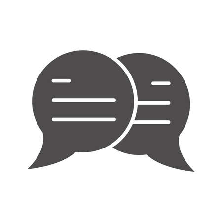 speech bubble message sms chat silhouette style icon vector illustration Illustration