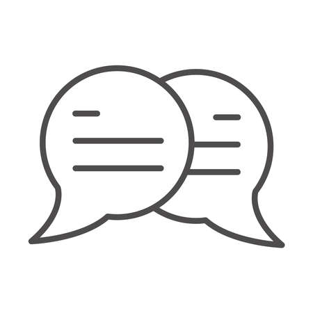 speech bubble message sms chat line style icon vector illustration