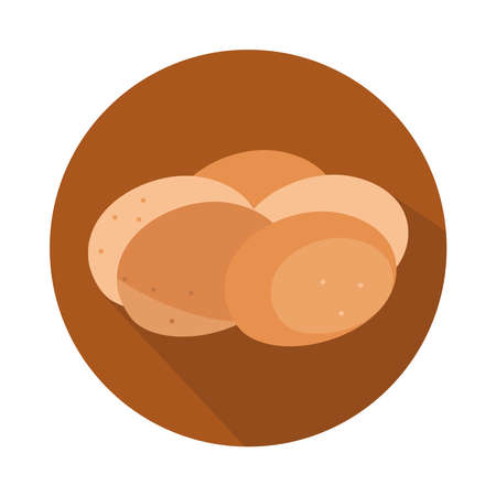 buns toast bread menu bakery food product vector illustration block and flat icon