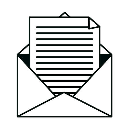 mail paper envelope letter communication isolated design icon vector illustration