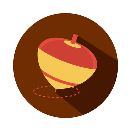 spinning top toy object for small children to play, block and flat style cartoon vector illustration Ilustrace