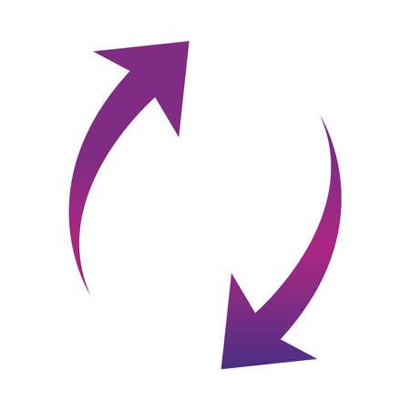 arrows icon shape pointer reload progress gradient style vector illustration