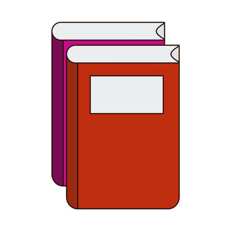 school education book learn literature line and fill style icon vector illustration