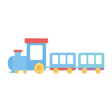 kids toys train cartoon isolated icon design white background vector illustration