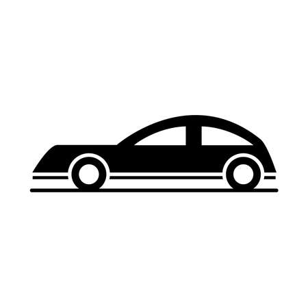 car coupe model transport vehicle silhouette style icon design vector illustration