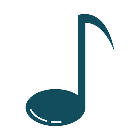 note music harmony melody flat style icon vector illustration