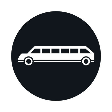 car limousine model transport vehicle block and flat style icon design vector illustration
