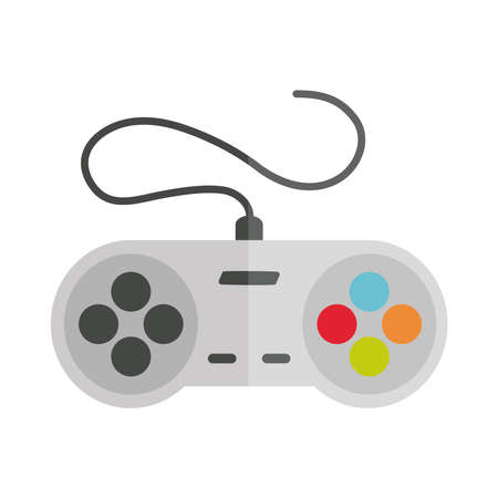 cartoon control video game toy object for small children to play, flat style icon vector illustration
