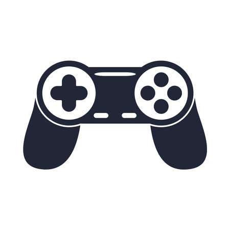 cartoon controller video game toy object for small children to play, silhouette style icon vector illustration