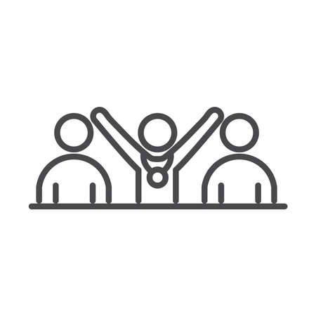 team people competition running speed sport race line icon design vector illustration