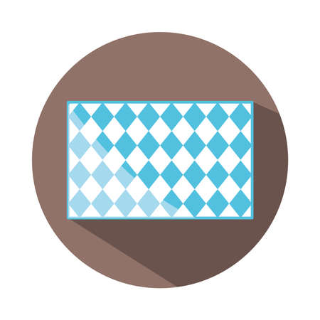 traditional blue checkered pattern shape block and flat icon vector illustration